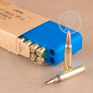 Image detailing the brass case on the Israeli Military Industries ammunition.