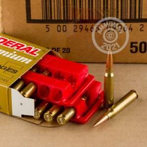 Image of the .223 REM FEDERAL LONG RANGE 80 GRAIN HPBT (500 ROUNDS) available at AmmoMan.com.
