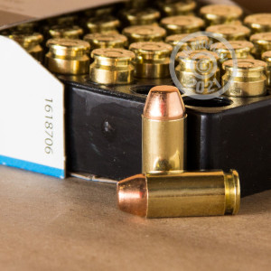 An image of .40 Smith & Wesson ammo made by Aguila at AmmoMan.com.