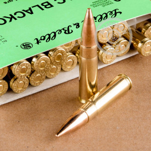 Photo detailing the 300 AAC BLACKOUT SELLIER & BELLOT 124 GRAIN FMJ (20 ROUNDS) for sale at AmmoMan.com.