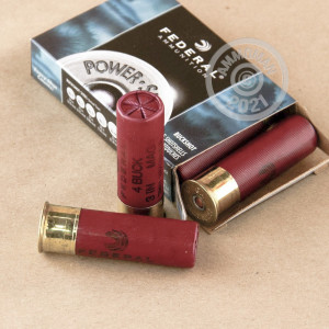 #4 BUCK shotgun rounds for sale at AmmoMan.com - 5 rounds.