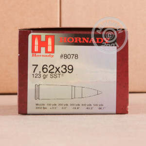 Image detailing the steel case on the Hornady ammunition.