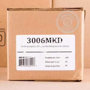 An image of 30.06 Springfield ammo made by Fiocchi at AmmoMan.com.