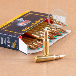 Image of 6.8 SPC ammo by Sellier & Bellot that's ideal for hunting varmint sized game, training at the range, whitetail hunting.
