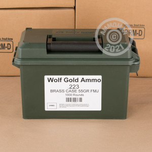 Image of 223 REM WOLF GOLD 55 GRAIN FMJ (1000 ROUNDS)