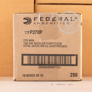 An image of 270 Winchester ammo made by Federal at AmmoMan.com.