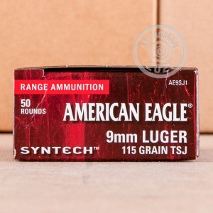 Photo detailing the 9MM FEDERAL SYNTECH 115 GRAIN TOTAL SYNTHETIC JACKET (50 ROUNDS) for sale at AmmoMan.com.