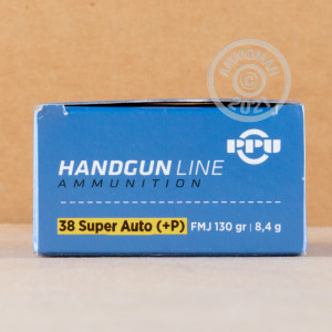 Photo of 38 Super FMJ ammo by Prvi Partizan for sale at AmmoMan.com.