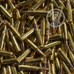 Image detailing the brass case and boxer primers on 150 rounds of Mixed ammunition.