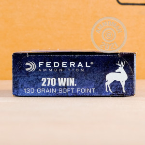A photo of a box of Federal ammo in 270 Winchester.