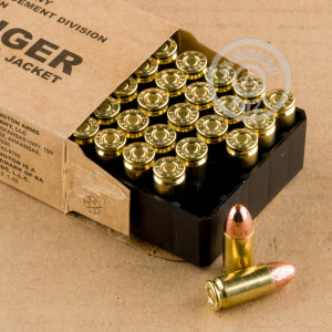 A photo of a box of Remington ammo in 9mm Luger.