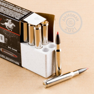 A photograph detailing the 30.06 Springfield ammo with Polymer Tipped bullets made by Winchester.