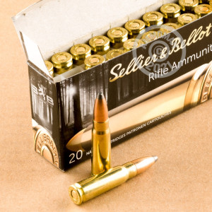 An image of 7.62 x 39 ammo made by Sellier & Bellot at AmmoMan.com.