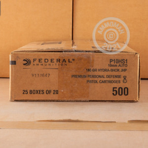 Photo of 10mm JHP ammo by Federal for sale at AmmoMan.com.