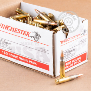 Image of 5.56X45 WINCHESTER USA 55 GRAIN FMJ (150 ROUNDS)