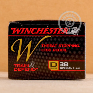 Image of 38 Special ammo by Winchester that's ideal for home protection.
