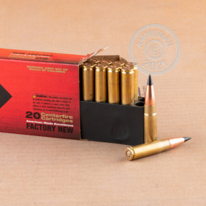 A photograph of 20 rounds of 110 grain 300 AAC Blackout ammo with a TTSX bullet for sale.