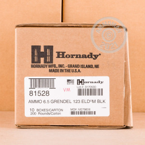 Photo of 6.5 Grendel ELD ammo by Hornady for sale.