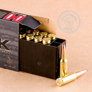 A photograph detailing the 6.5 Grendel ammo with ELD bullets made by Hornady.