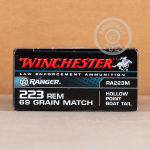 Image of the 223 REMINGTON WINCHESTER RANGER 69 GRAIN HPBT (20 ROUNDS) available at AmmoMan.com.