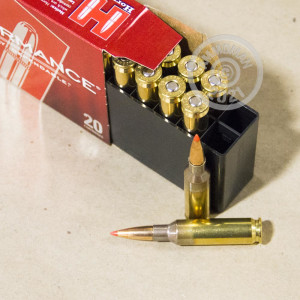 Photograph showing detail of 6.5MM CREEDMOOR HORNADY SUPERFORMANCE 120 GRAIN GMX (20 ROUNDS)