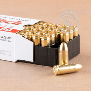 Photo of 9mm Luger FMJ ammo by MaxxTech for sale at AmmoMan.com.