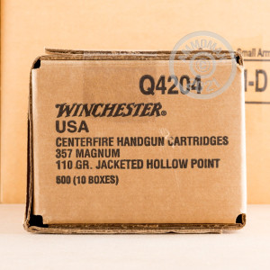 Image of 357 Magnum ammo by Winchester that's ideal for home protection.