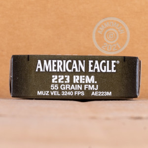 Image of 223 REM FEDERAL AMERICAN EAGLE MILITARY GRADE 55 GRAIN FMJBT (500 ROUNDS)