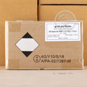 An image of 38 Special ammo made by Prvi Partizan at AmmoMan.com.