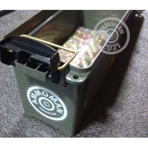 A photograph detailing the bulk .45 GAP ammo with Unknown bullets made by Mixed and commonly used for training at the range.