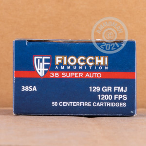 Photo of 38 Super FMJ ammo by Fiocchi for sale at AmmoMan.com.