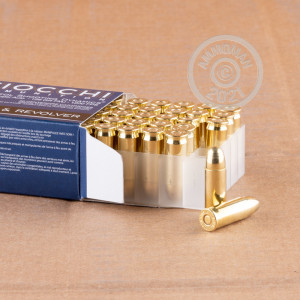 A photograph of 50 rounds of 129 grain 38 Super ammo with a FMJ bullet for sale.