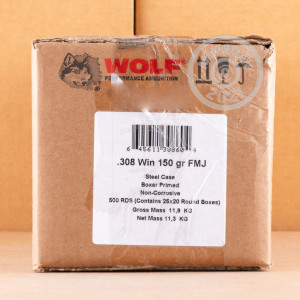 Photo of 308 / 7.62x51 FMJ ammo by Wolf for sale.