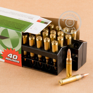 Photo detailing the 223 REM REMINGTON UMC 45 GRAIN JHP (400 ROUNDS) for sale at AmmoMan.com.