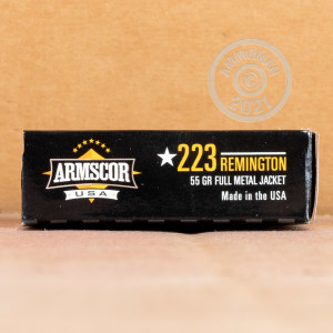 Image of 223 Remington ammo by Armscor that's ideal for training at the range.