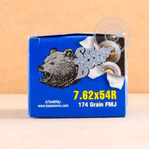Photo of 7.62 x 54R FMJ ammo by Silver Bear for sale.