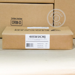 A photograph of 50 rounds of 180 grain .40 Smith & Wesson ammo with a TMJ bullet for sale.