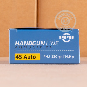 Photo of .45 Automatic FMJ ammo by Prvi Partizan for sale at AmmoMan.com.