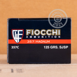Image of 357 Magnum ammo by Fiocchi that's ideal for home protection, training at the range, whitetail hunting.