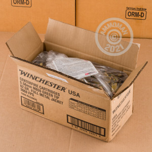 Image of the 5.56X45 WINCHESTER USA 62 GRAIN FMJ M855 (1000 ROUNDS) available at AmmoMan.com.