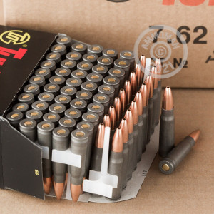 A photograph of 1000 rounds of 122 grain 7.62 x 39 ammo with a HP bullet for sale.