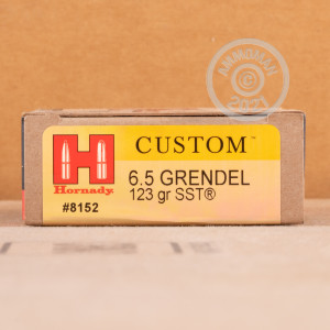 Photo of 6.5 Grendel SST ammo by Hornady for sale.