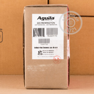 Image detailing the brass case on the Aguila ammunition.