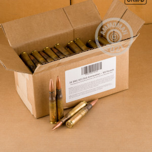 Photo of .50 BMG FMJ ammo by Lake City for sale.