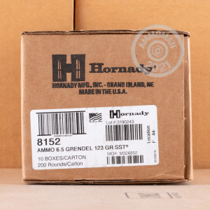 A photo of a box of Hornady ammo in 6.5 Grendel.