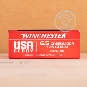 Image of the 6.5 CREEDMOOR WINCHESTER USA READY 125 GRAIN OT (200 ROUNDS) available at AmmoMan.com.