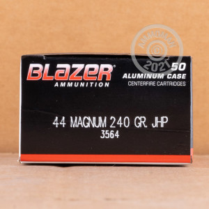 Image of 44 Remington Magnum ammo by Blazer that's ideal for home protection.