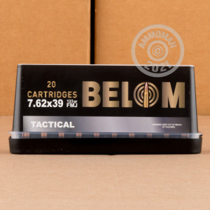 Image of bulk 7.62 x 39 ammo by Belom that's ideal for training at the range.