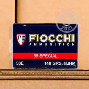 A photo of a box of Fiocchi ammo in 38 Special.