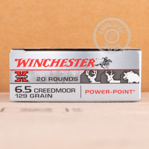 Image of the 6.5 CREEDMOOR WINCHESTER SUPER-X 129 GRAIN POWER POINT (200 ROUNDS) available at AmmoMan.com.